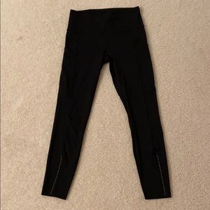 """lululemon reflective fast and free 25"""" tight"""